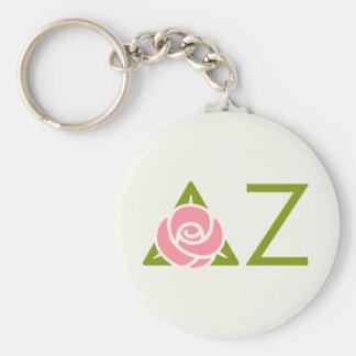 Delta Zeta Rose Icon Keychain