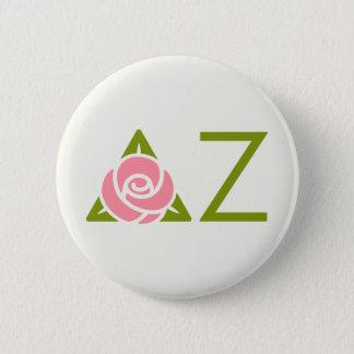 Delta Zeta Rose Icon Pinback Button
