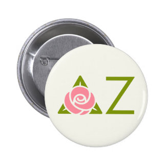 Delta Zeta Rose Icon Pinback Button