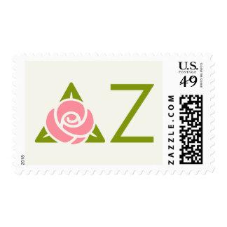 Delta Zeta Rose Icon Postage