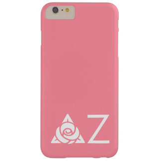 Delta Zeta Rose Icon White Barely There iPhone 6 Plus Case