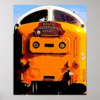 Deltic British Diesel Train Poster