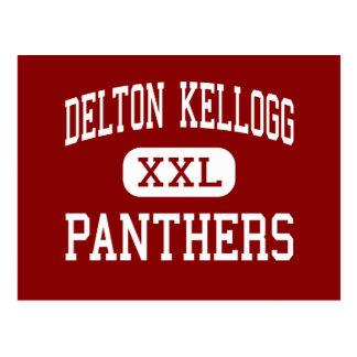 Delton Kellogg - Panthers - High - Delton Michigan Postcard