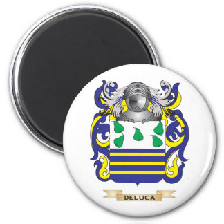 DeLuca Coat of Arms 2 Inch Round Magnet