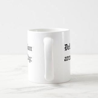 delusion and repression: end religion now mug