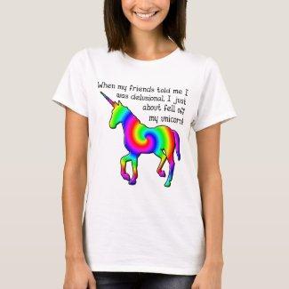 Delusional Unicorn Funny T-Shirt