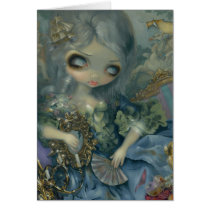 delusions of grandeur, rococo, baroque, france, french, marie antoinette, royalty, princess, jasmine, becket-griffith, artsprojekt, madame, pompadour, doll, gilt, gilded, sofa, couch, ornate, eye, eyes, big eye, big eyed, becket, griffith, jasmine becket-griffith, beckett, jasmin, strangeling, artist, goth, gothic, fairy, gothic fairy, faery, fairies, faerie, fairie, lowbrow, low brow, Card with custom graphic design
