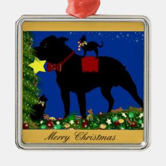 Delux Ornament~ Bull Terrier Metal Ornament