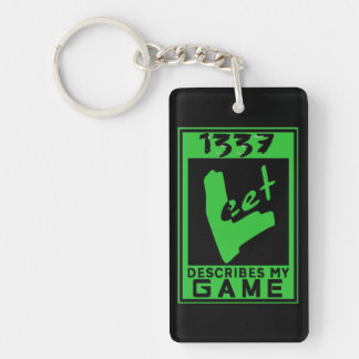 Deluxe1337 Leet game rating Keychain