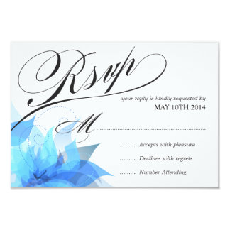 Deluxe 2-Sided Floral RSVP Card
