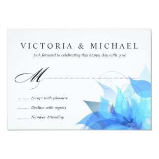 """Deluxe 2-Sided Floral RSVP 3.5"""" X 5"""" Invitation Card"""