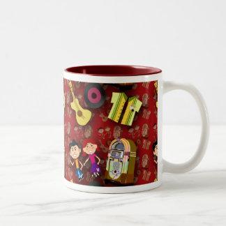 Deluxe 50's kids Mug! Two-Tone Coffee Mug