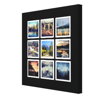 Deluxe 9 Instagram Photograph Grid Collage Canvas Print