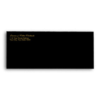 Deluxe Black envelope with Gold interior