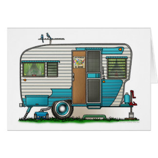 Deluxe Camper Trailer Greeting Card