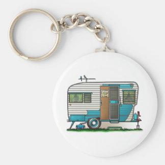 Deluxe Camper Trailer Keychain