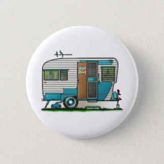 Deluxe Camper Trailer Pinback Button