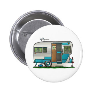 Deluxe Camper Trailer Pinback Button
