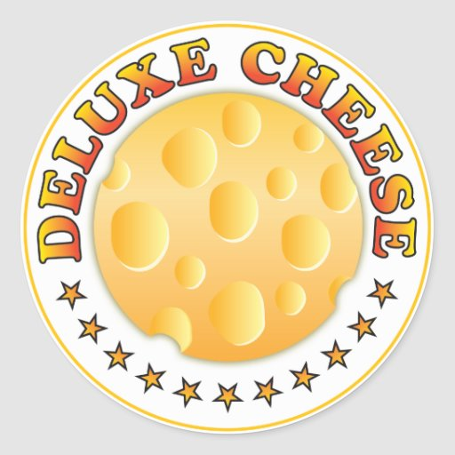 Deluxe Cheese R Round Stickers