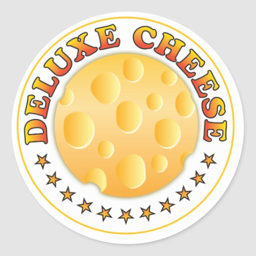 Deluxe Cheese Round Stickers