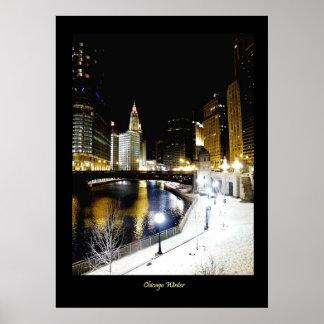 Deluxe Chicago Winter Poster