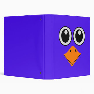 deluxe colorful bird face 3 ring binder