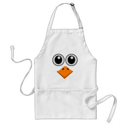 deluxe colorful bird face adult apron