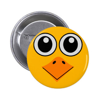 deluxe colorful bird face button