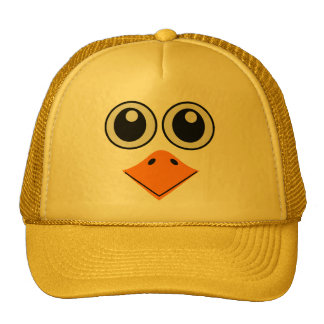 deluxe colorful bird face trucker hat