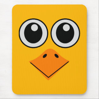 deluxe colorful bird face mouse pad