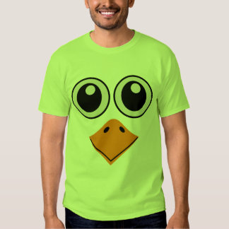 deluxe colorful bird face t shirt