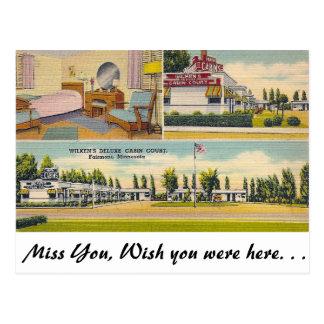 Deluxe Court, Fairmont, Minnesota Postcard