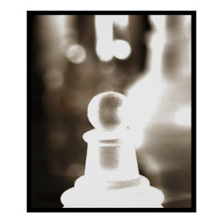 Deluxe Crystal Chess Pawn(assorted colors) Poster