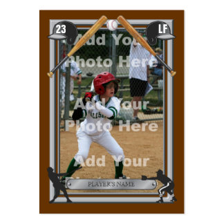 Deluxe Custom Baseball Card Business Card Template