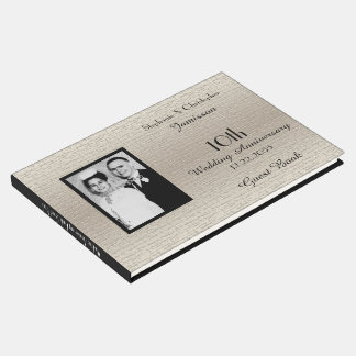 Deluxe Elegant Anniversary Party Photo Guest Book