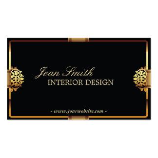 Deluxe Gold Frame Interior Design Business card