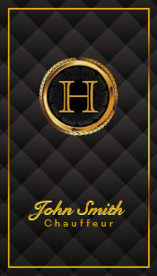 Chauffeur business cards zazzle deluxe gold monogram chauffeur business card colourmoves