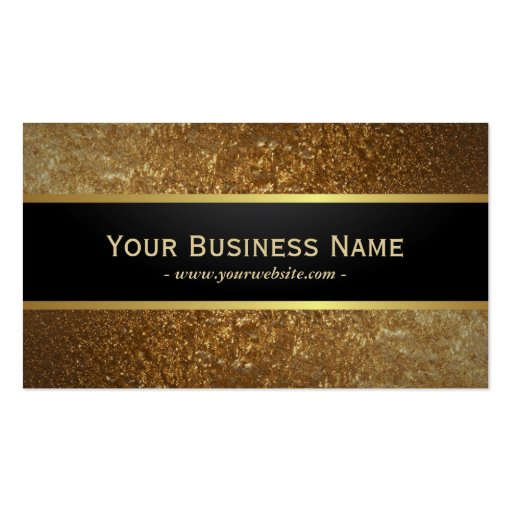 Deluxe Golden Glitter Dark Metallic Business Card