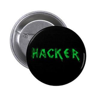 Deluxe Hacker rough font Button