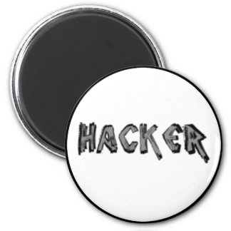 Deluxe Hacker rough font Magnet