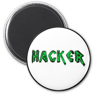 Deluxe Hacker rough font 2 Inch Round Magnet