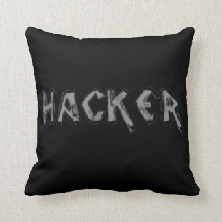 Deluxe Hacker rough font Throw Pillow