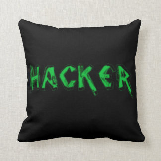 Deluxe Hacker rough font Throw Pillows