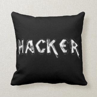 Deluxe Hacker rough font Pillows