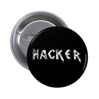 Deluxe Hacker rough font Pin