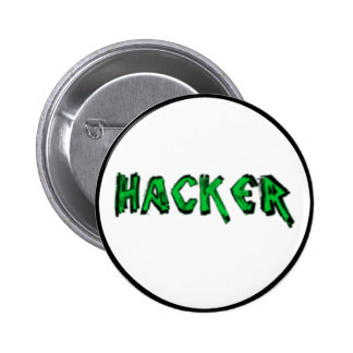 Deluxe Hacker rough font Pins