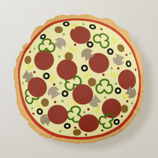 Deluxe Large Pizza Round Pillow