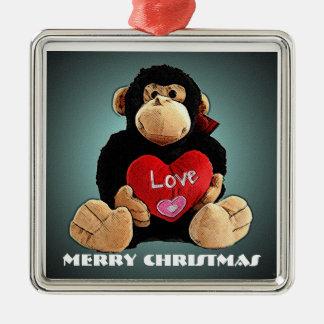 Deluxe Monkey Love Christmas Ornament