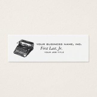 Deluxe Noiseless Typewriter Mini Business Card