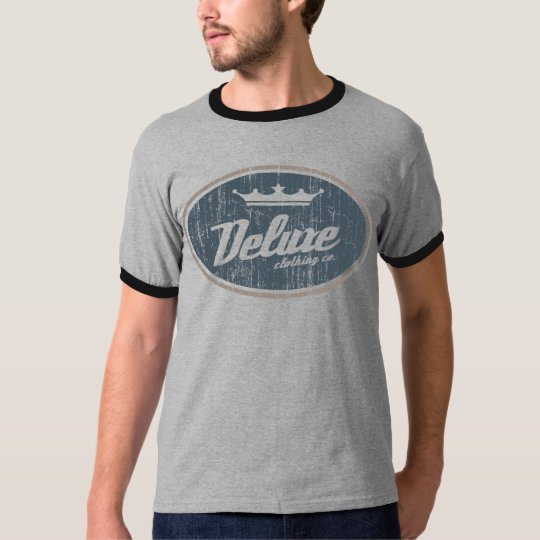 Deluxe Oval Logo (vintage gray/taupe) T-Shirt